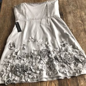 Ann Taylor Dresses - Ann Taylor Silk Cocktail Bridesmaid Prom Gray 18